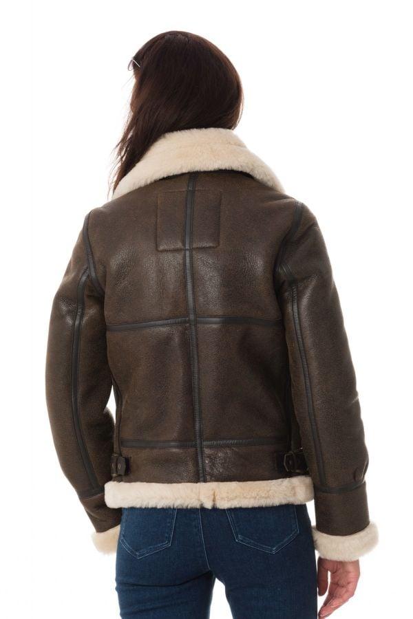 Damen Jacke Schott LCW1257 DARK BROWN