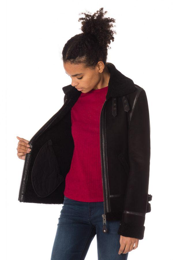 Blouson Femme Schott LCW1263 BLACK