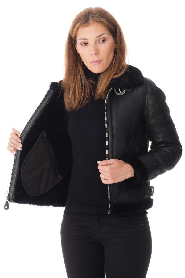 Blouson Femme Schott LCW1257 BLACK
