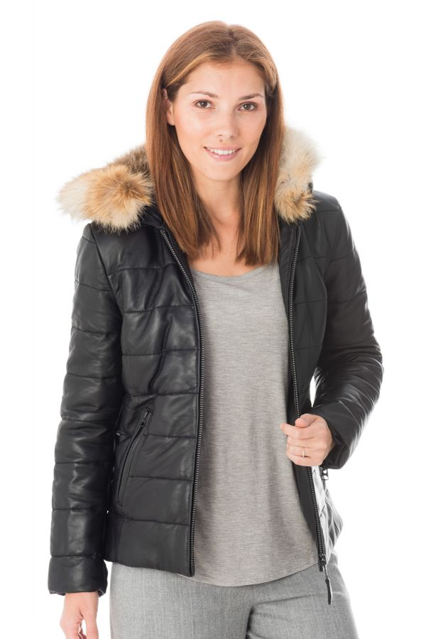 Blouson Femme Schott LCW6818 BLACK