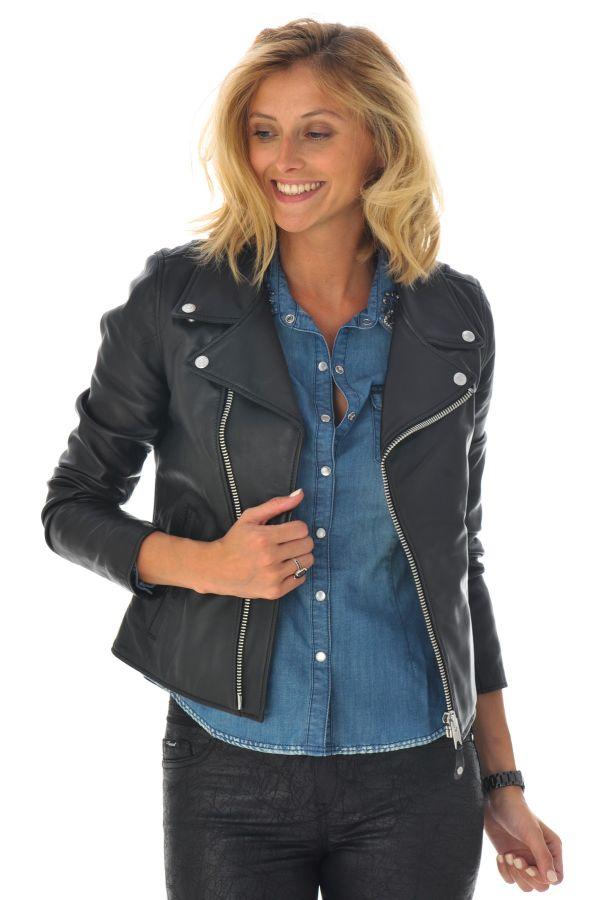 Blouson Femme Schott LCW8614 BLACK