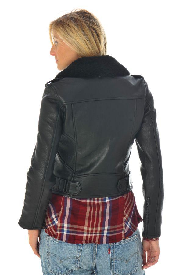 Blouson Femme Schott LCW6812 BLACK