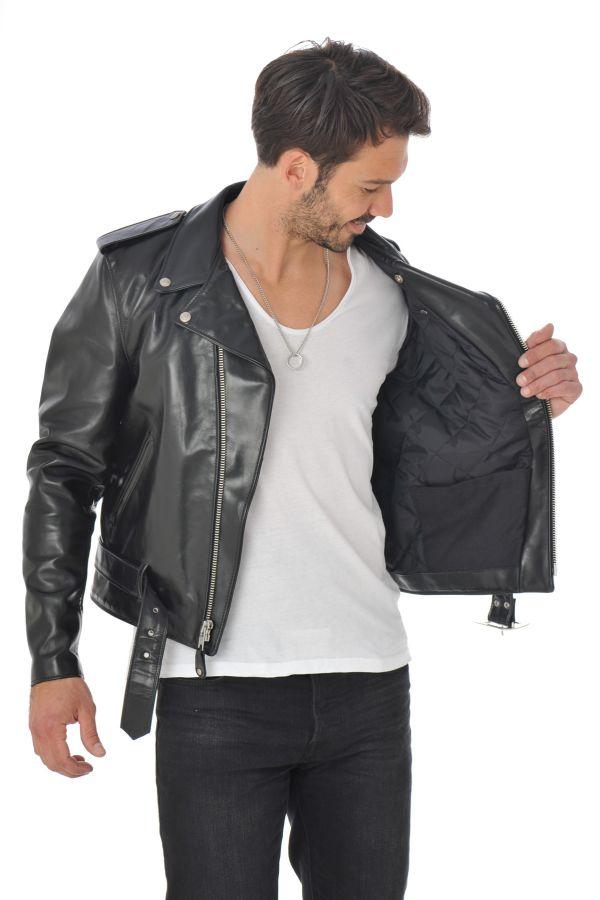 spécialiste Homme 618HH BLACK Schott Cuir – cuir Blouson du WQrCoxdeB