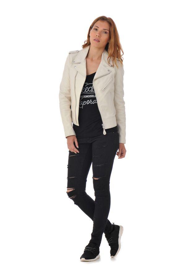 Blouson Femme Schott LCW1601D WHITE