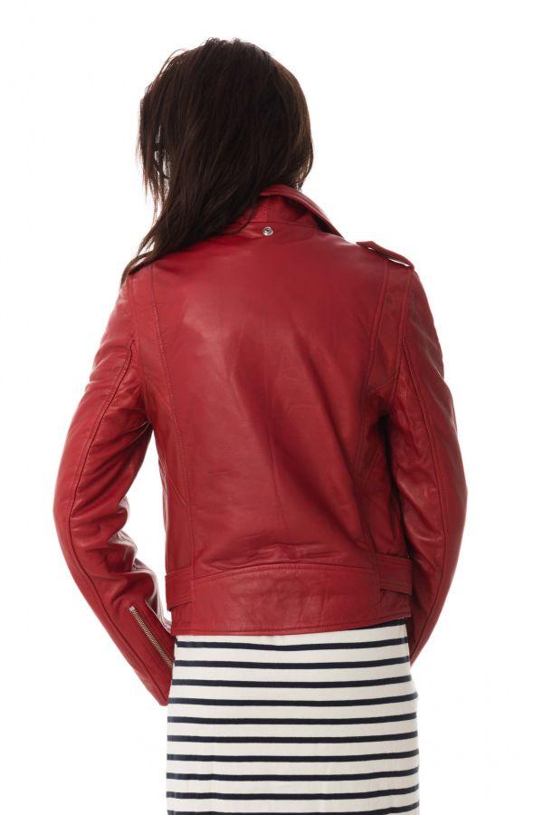Blouson Femme Schott LCW8600 RED