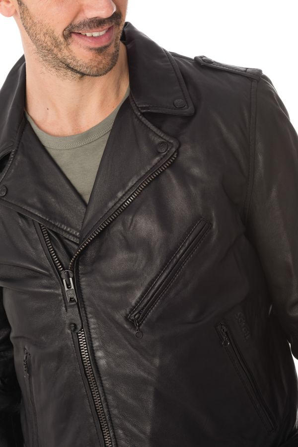 Blouson Homme Schott LC1141 BLACK