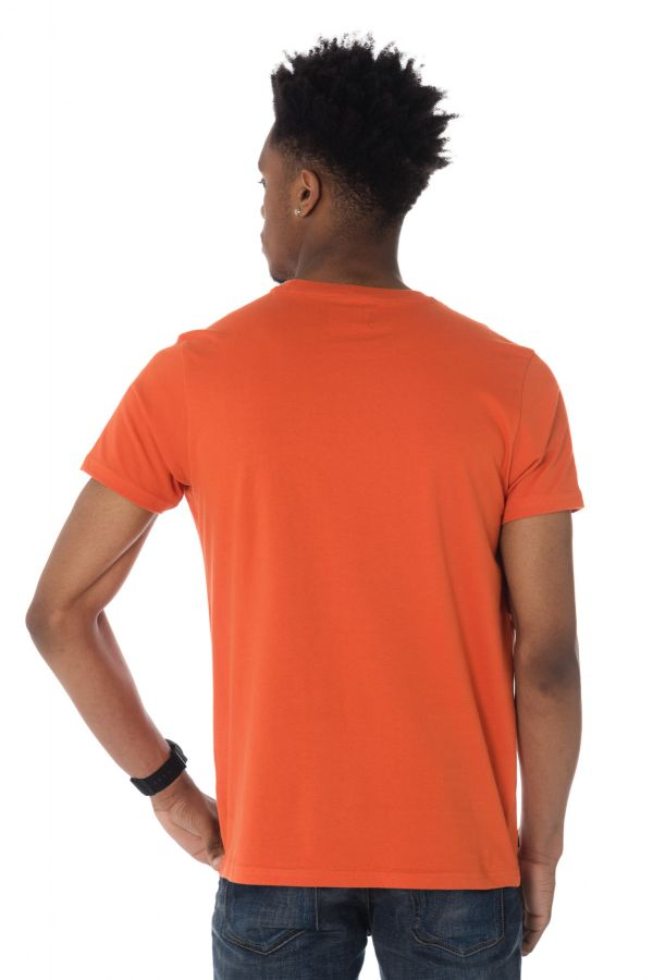 Tee Shirt Homme Schott TSCAMPUS ORANGE