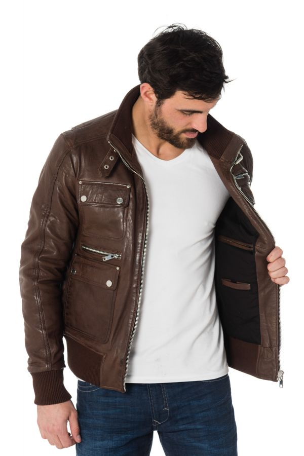 Blouson Homme Serge Pariente JOSH LIGHT BROWN