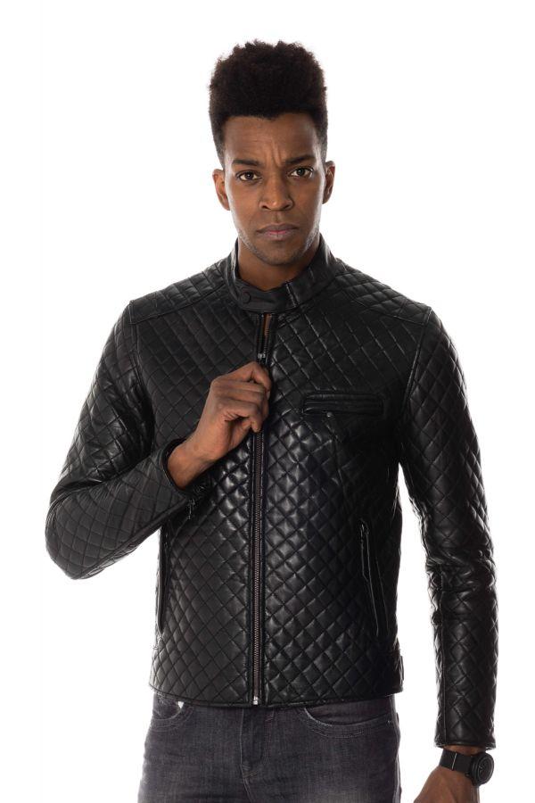 Blouson Homme Serge Pariente TOP MAN QUILT BLACK ZZ