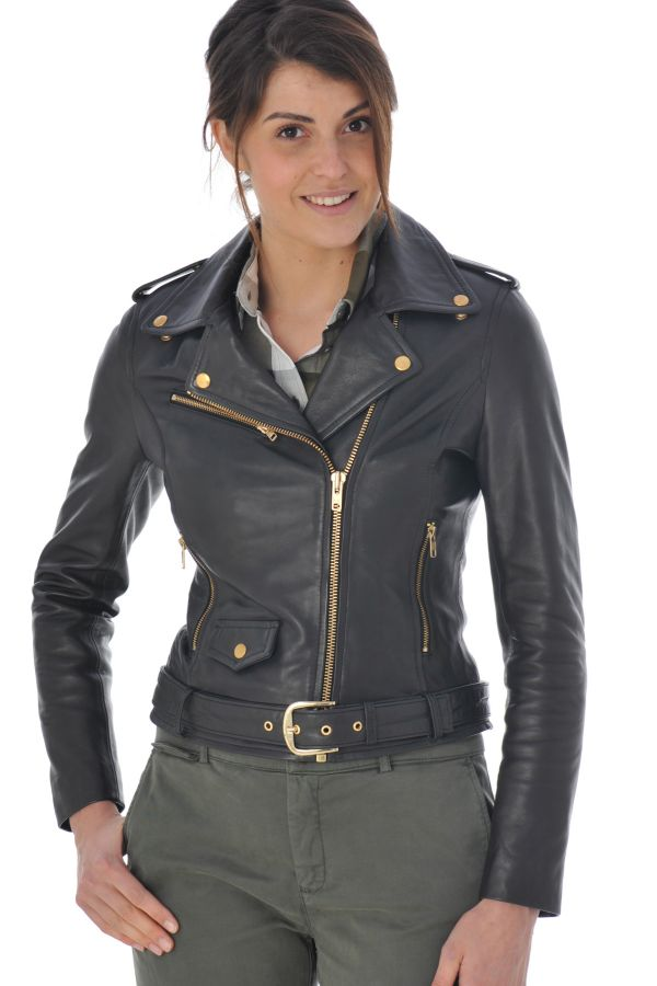 Blouson Femme Serge Pariente ROCK GIRL BLACK  GOLD