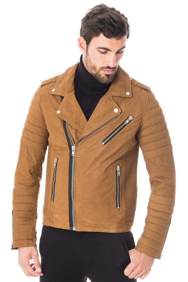Blouson Hipster Nubuck Pariente Serge Buff Homme Camel 66wpxqZvn