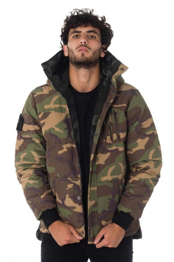 Blouson Homme The New Designers SNAPPED BLACK/KAKI