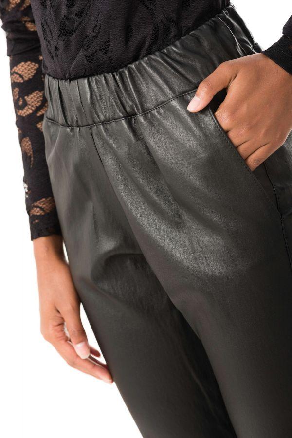Pantalon Femme Ventcouvert ELSA AGNEAU STRETCH NOIR