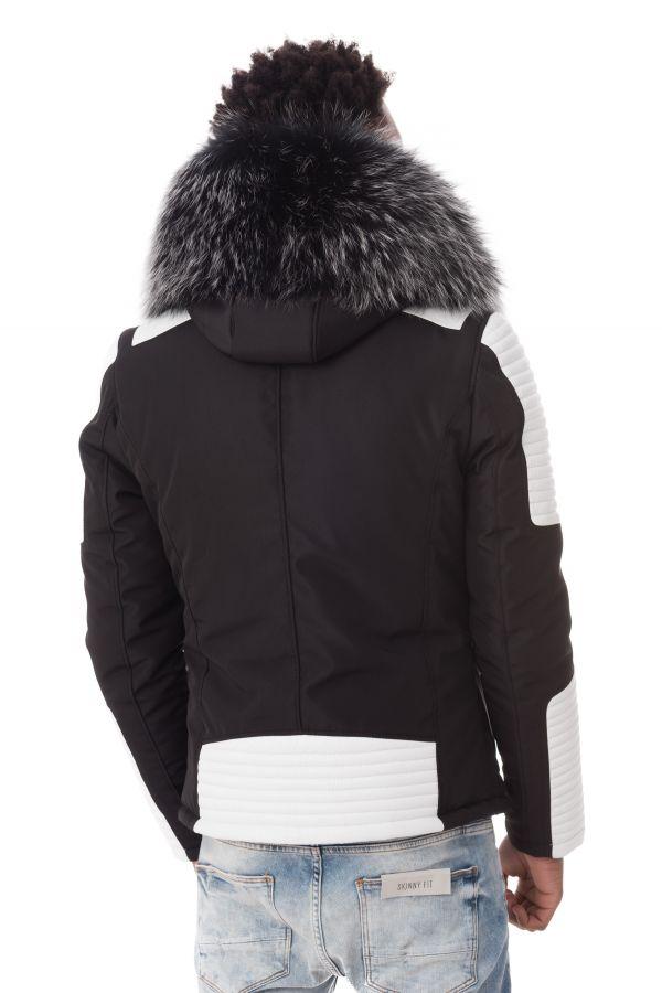 Blouson Homme Ventiuno EKOS 2 BLACK WHITE COL SILVER