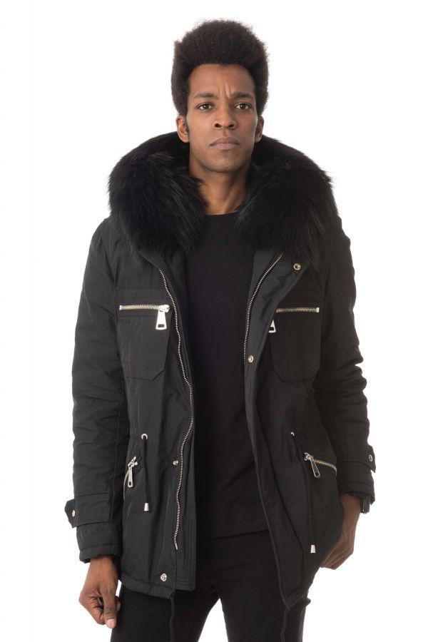 Blouson Homme Wild Arctic By Flo & Clo JOKER TEX + FUR PIUMINONERO