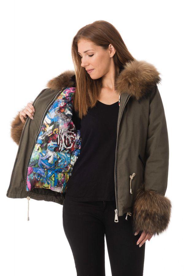 Blouson Femme Wild Arctic by Flo & Clo PAVEL TEX + FUR JANET VERDE