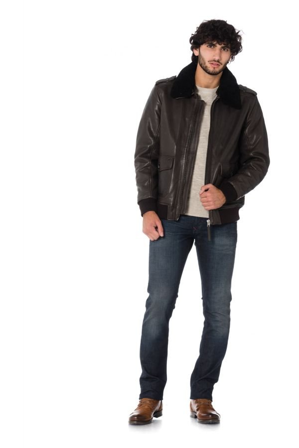 Blouson Homme deercraft JARED NSLVV DARK BROWN