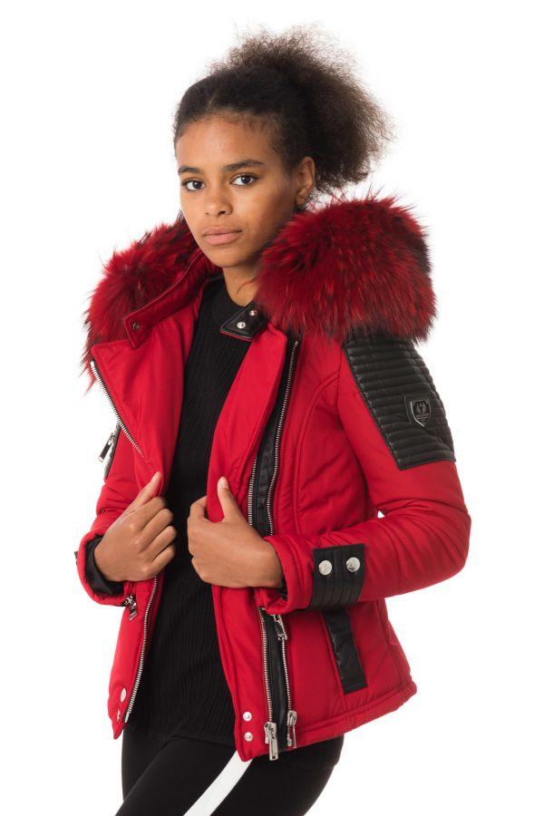 Blouson Femme horspist MILANO BIS ROUGE COL ROUGE 2018