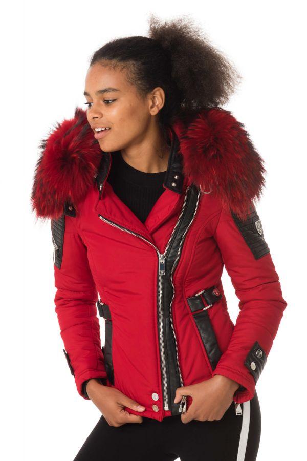 blouson femme horspist milano bis rouge col rouge 2018. Black Bedroom Furniture Sets. Home Design Ideas