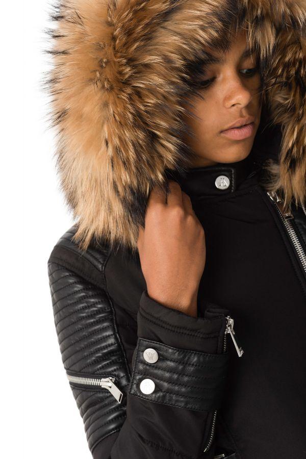 Blouson Femme horspist MILANO BIS NOIR COL NATUREL 2018