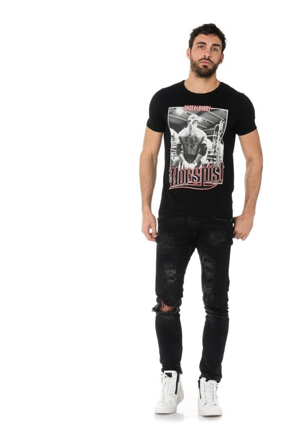 Tee Shirt Homme horspist JORDAN M500 BLACK/RED