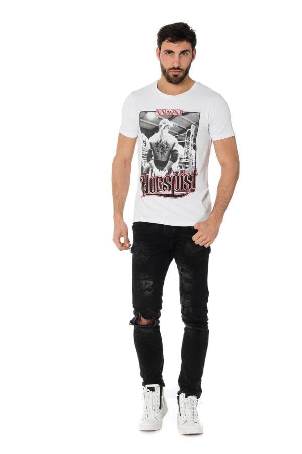 Tee Shirt Homme horspist JORDAN M500 WHITE/RED