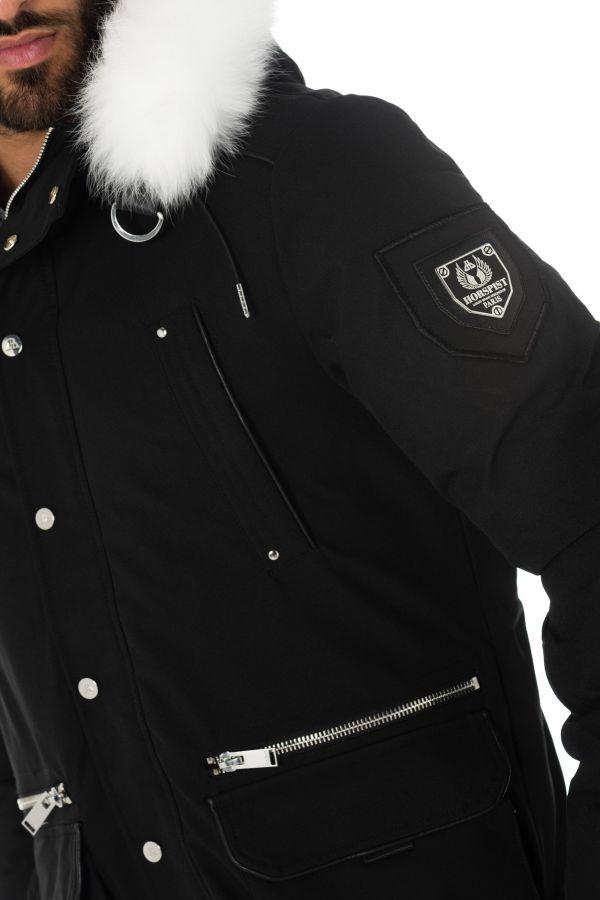 Blouson Homme horspist KRAVITZ M122 BLACK/WHITE
