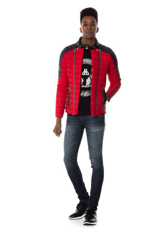 Blouson Homme Horspist STEEVE OMEGA RED/BLACK