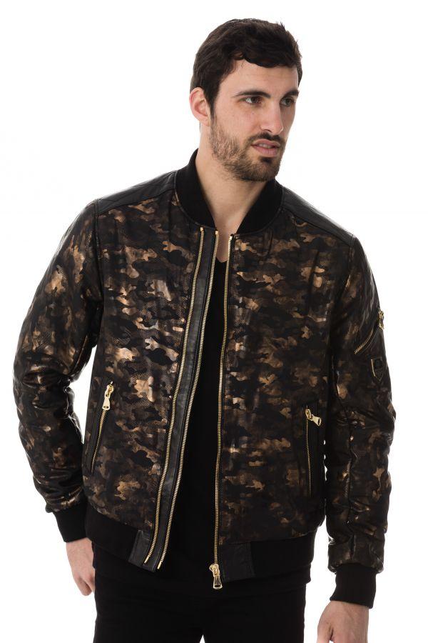 Blouson Zz Homme Gold Bombers Cuir Camouflage Horspist rrfXqH