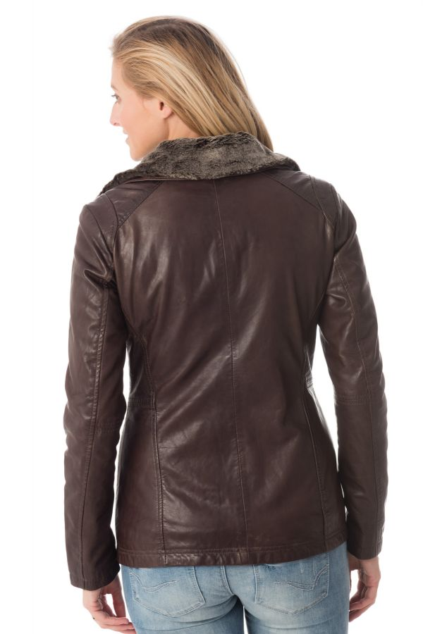 Blouson Femme rose garden GEMMA SHEEP AOSTA REDDISH BROWN