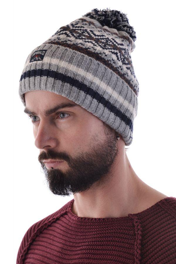 Bonnet Homme Kaporal LIKO GREY MELANGED H15