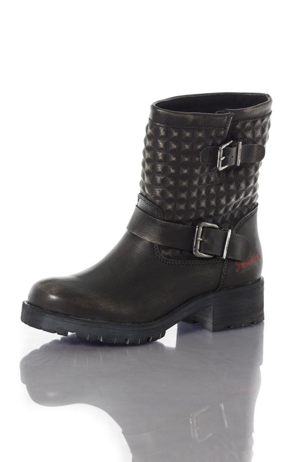 Boots / Bottes Femme Chaussures Redskins ACHIDA NOIR BEIGE