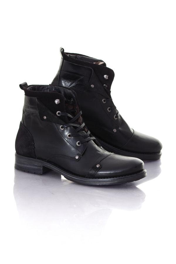 boots bottes homme chaussures redskins yedes noir cuir. Black Bedroom Furniture Sets. Home Design Ideas