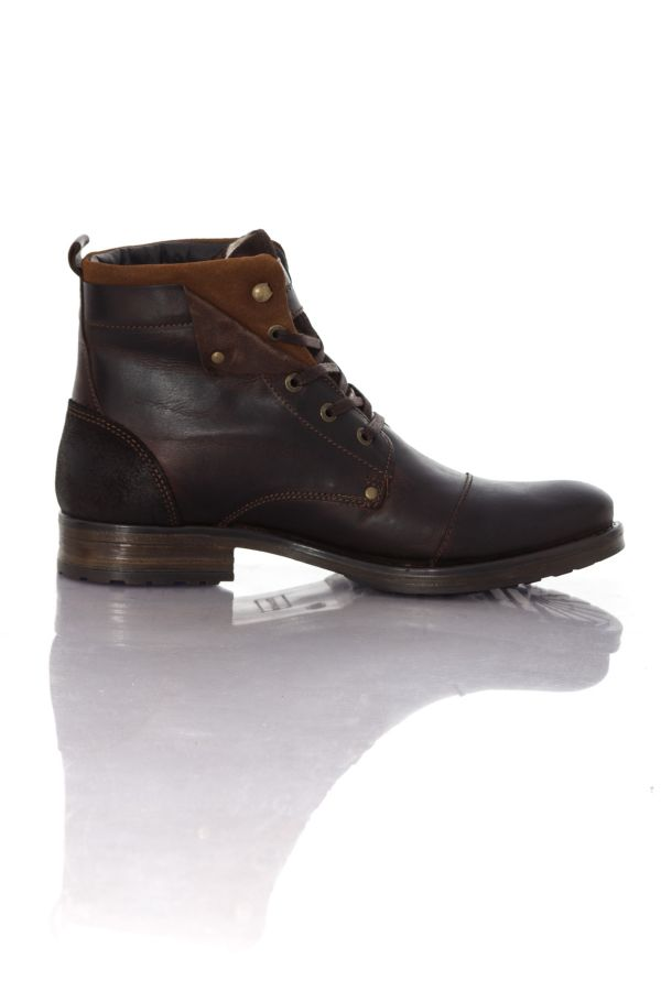boots bottes homme chaussures redskins yedes chataigne cognac cuir. Black Bedroom Furniture Sets. Home Design Ideas