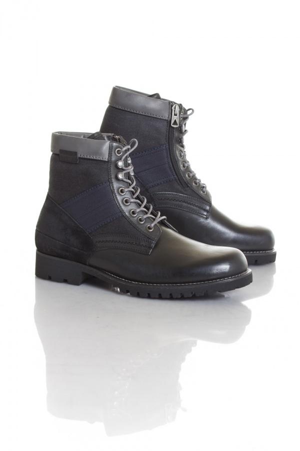 Boots / bottes Homme GStar Footwear HIGHLAND BLACK LTHR & TEXTILE W/DK GREY