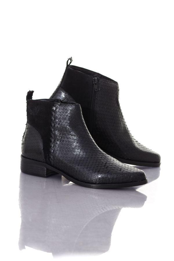 100% authentique 5e5de 88b1b Boots / bottes Femme Kaporal Shoes NATHALIE NOIR 10505