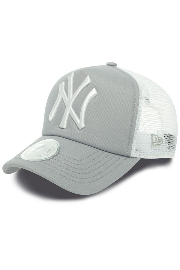 casquette homme new era clean trucker neyyan gray white 0849 cuir. Black Bedroom Furniture Sets. Home Design Ideas