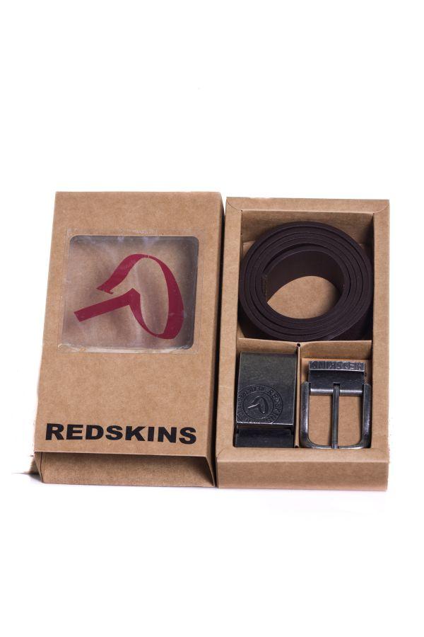 02325d507d62 Ceinture Homme Accessoires Redskins COFFRET RED GOFFRE MARRON - Cuir ...