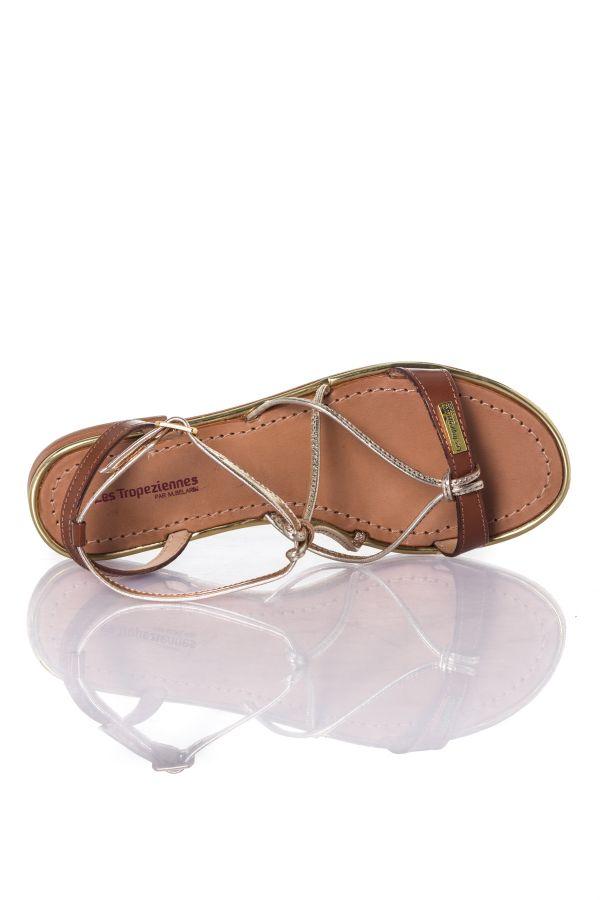 Chaussures Femme Les Tropeziennes Par M Belarbi HIRONDEL TAN/OR