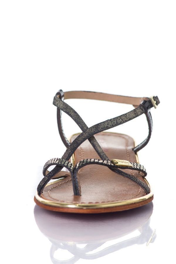 Chaussures Femme Les Tropeziennes Par M Belarbi MONACO NOIR/OR