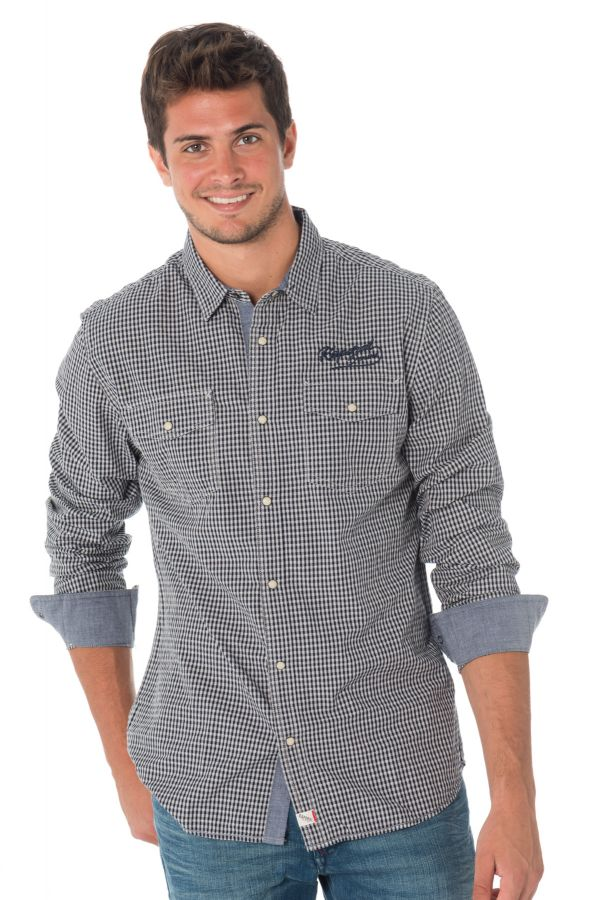 Chemise Homme Kaporal FIDO NAVY - Cuir-city.