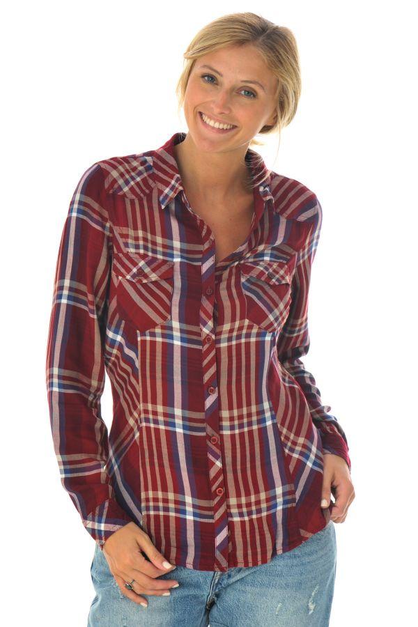 chemise femme kaporal tokyo bordeaux cuir. Black Bedroom Furniture Sets. Home Design Ideas