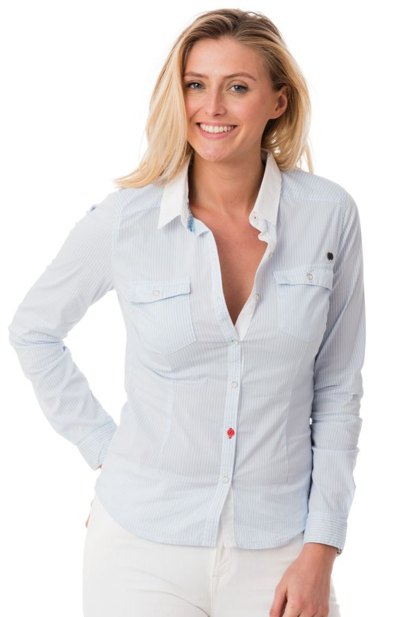 Chemise Femme Kaporal ADIKT BLUE Cuir </p>                 <!--bof Quantity Discounts table -->                                 <!--eof Quantity Discounts table -->                  <!--bof Product URL -->                                 <!--eof Product URL -->             </div>             <div id=