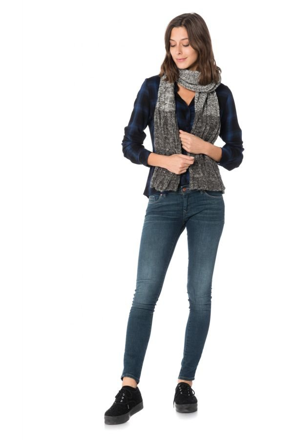 Echarpe Femme Accessoires Redskins ECHARPE GYPSY NOIR GRIS