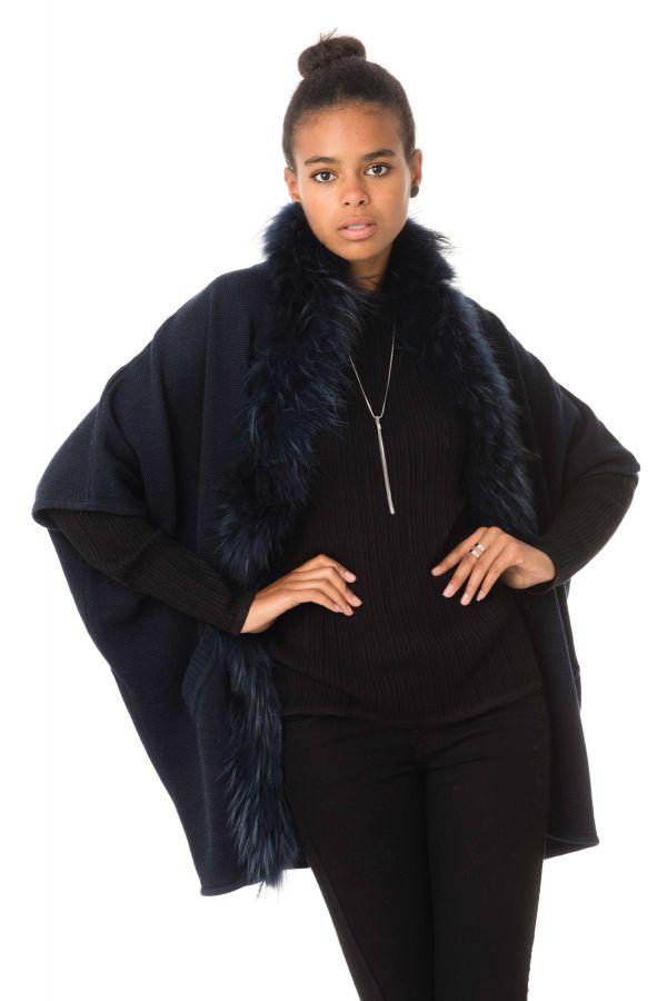 Fourrure Femme Pellessimo CHALE 302310 NAVY