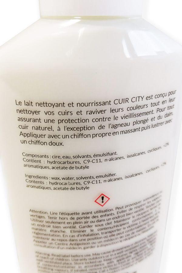 Produit d 39 entretien cuir city lait nettoyant cuir - Produit d entretien canape cuir ...