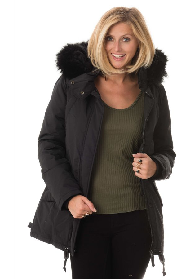 Manteau Femme Schott JKTFREYA2W BLACK/BLACK