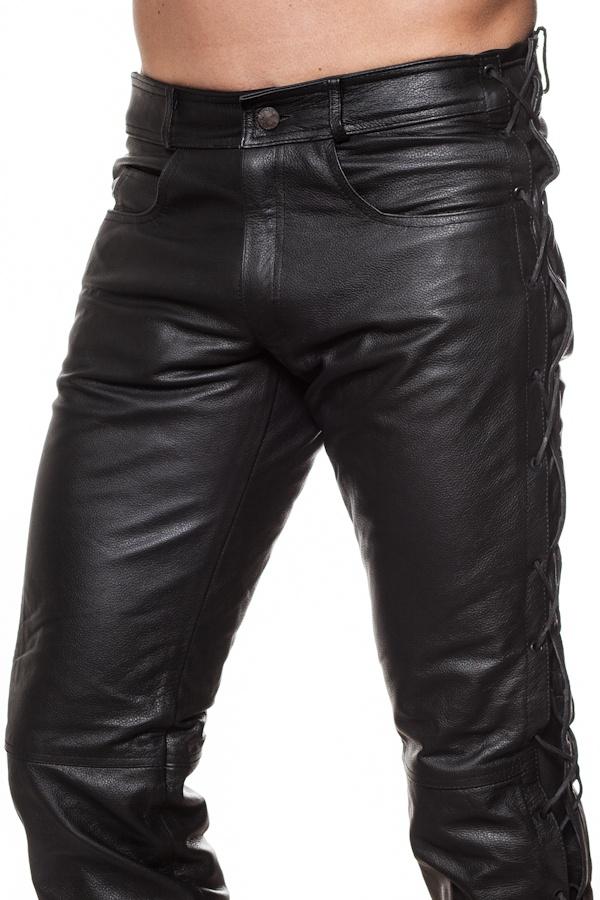 Pantalon Homme Last Rebels PANTALON LACES BL BLACK