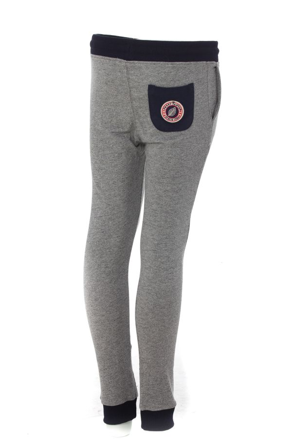 Pantalon Enfant sweet pants TERRY KIDS 2 SLIM GREY WHITE/NAVY