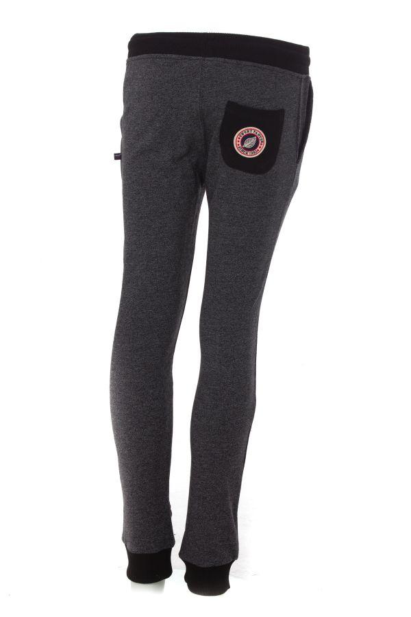 Pantalon Enfant sweet pants TERRY KIDS 2 SLIM BLACK WHITE/BLACK
